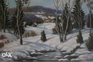 Umjetnička slika - Zimska idila