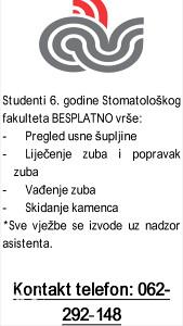 Besplatne stomatoloske usluge Sarajevo