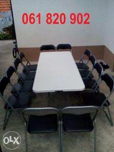 Iznajmljivanje sklopivih stolica 061 820 902