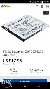Zopo baterija 2300mah ZP320