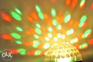 LED RGB DISKO MAGICNA KUGLA ORANGE