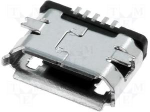 USB micro B konektor ugradni 5pin (15838)
