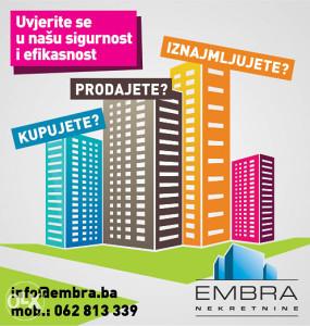 EMBRA potražuje: Nekretnine za prodaju, Sarajevo.