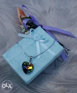 Lancic i privjesak 925   poklon kutijica i kesica