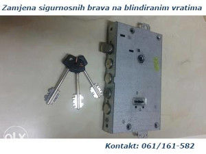 Zamjena sifri na blindiranim vratima