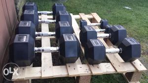 Set tegova/bucica za teretane hexa 2,5kg - 40kg (heksa)
