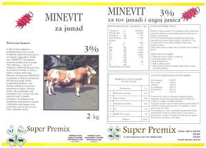 Minevit za junad - vitaminsko mineralni dodatak