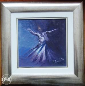 Umjetnicka slika 'Derviš' ulje na platnu  20 X20 cm