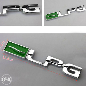 LPG Plin L.P.G znak emblem za auto chrome