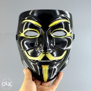 Anonimus maska, tvrda plastika NOVO,crna boja