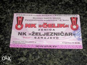 Ulaznica NK Čelik - FK Željezničar