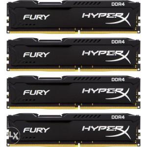 Memorija DIMM DDR4 4x4GB 2666MHz Kingston Fury Black