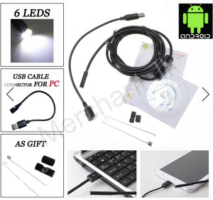 1.5m 6LED Android Endoskop kamera