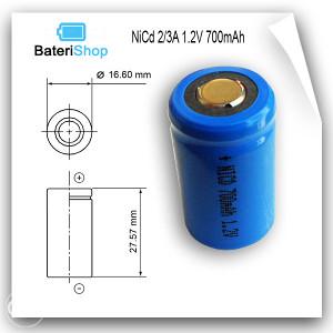 Baterija NiCd 2/3A 1.2V 700mAh