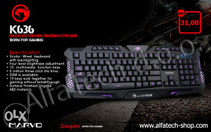 Tastatura Gaming MARVO K636 Wired