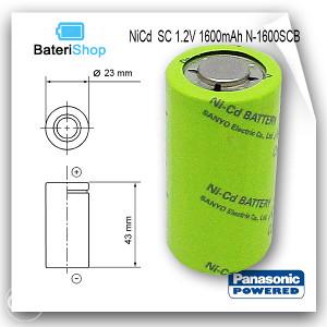 Bat NiCd SC 1.2V 1600mAh N-1600SCB Panasonic Cadnica