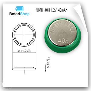 Baterija dugmetna NiMH 40H 1.2V 40mAh