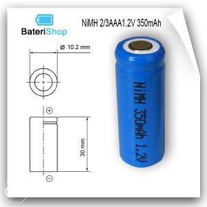 Baterija NiMH 2/3AAA 1.2V 350mAh