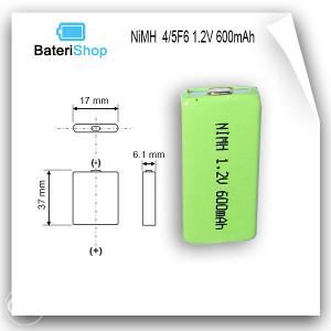 Baterija NiMH 4/5F6 1.2V 600mAh