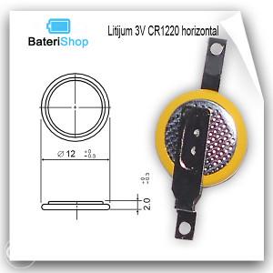 Baterija Litijum CR1220 3V sa horizontalnim izvodima