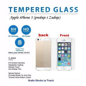 Apple Iphone 5 Prednje i Zadnje Zastitno Staklo