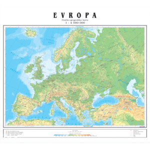 geografija karta evrope GEOGRAFSKA KARTA EVROPE   ZIDNA   Literatura   Ostalo   Novi Grad  geografija karta evrope