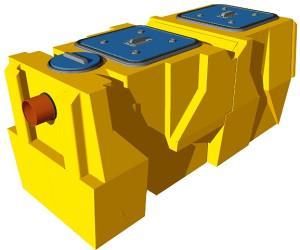 Separator ulja masti naftnih derivata i lakih tekućina