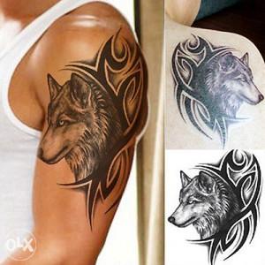 Privremena vodootporna tetovaža (Vuk Tribal)