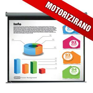 Platno za projektor MS2 MOTORIZIRANO 203 cm !!!
