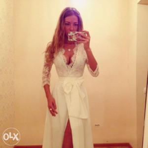 Bijela cipkana haljina