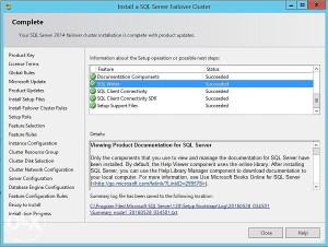 SQL Failover Cluster