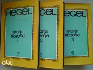 knjige filozofija Hegel: Istorija filozofije I - III