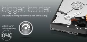WD Black 6TB 7200 rpm 128 MB SATA3 WD6001FZWX