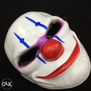 party scary clown maska, tvrda plastika NOVO