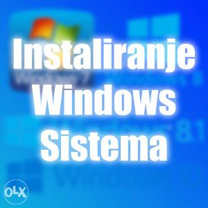 Instaliranje Windows sistema