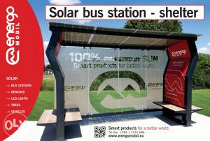 Solar Bus Station Shelter ENERGOMOBIL
