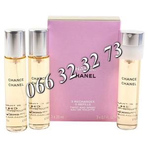 Chanel Chance Eau De Toilette 60ml (3 x 20ml ) ... Ž 60 ml 20 ml