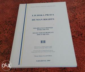 Ljudska Prava Dvije Knjige lll 1996 i 1999 g.