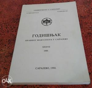 Godišnjak Pravnog Fakulteta u Sarajevo 89/90 g.