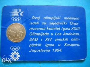 Olimpijada Sarajevo ZOI 84 - plaketa ( medaljon)