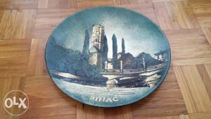 Ukrasni tanjir BIHAĆ prečnika 30cm RUČNI RAD