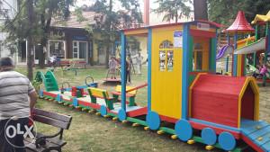 Vanjsko igralište set 5 Drveni vozic