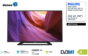 "Philips 40"" LED FullHD TV 40PFT4100 DVB-T2 model 2016"