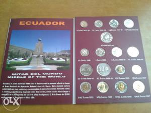 Kovanice EKVADOR-- UNC