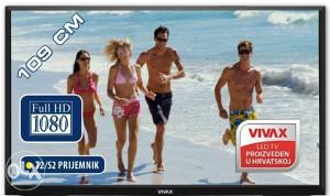 """Vivax 43"""" LED TV model 43S60T2S2 DVB-T2 FullHD 109cm"""