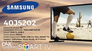 "Samsung 40"" LED Smart WiFi TV 40J5202 Quad Core !!!"