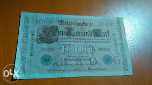 novcanica- 1000 njemackih marakia -1910 GOD.-21-april