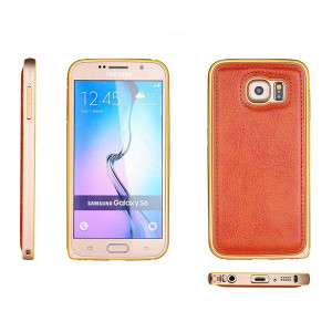 Samsung Galaxy S6 Edge aluminijum/koža maska