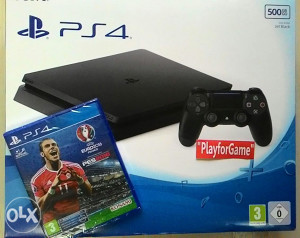PlayStation4 PS4 500GB SLIM + Pes 2016+Euro16