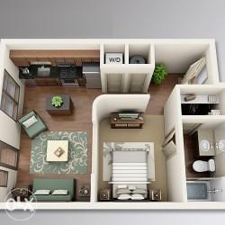 Jednoiposoban stan u izgradnji ~ 1.170km/m2 ID 1866/GT